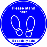 Anti-Slip Social Distancing 400mm Floor Graphic - Please stand here