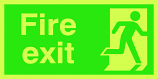 Fire Exit Photoluminescent Sign (Man on Right)