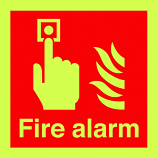 Fire Alarm Photoluminescent Sign