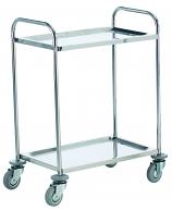 Stainless Steel 2 Shelf Trolley