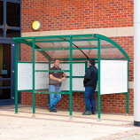 Premier Smoking Shelter - Perforated Steel Sides