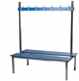 Laminated Changing Room Benches and Coat Hooks