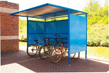 Traditional Bicycle Shelter Galvanized Sides