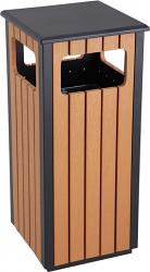 Plastic Wood Effect Bin - One Compartment