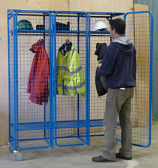 Heavy Duty Mesh Storage Mobile Unit with Padlockable Doors