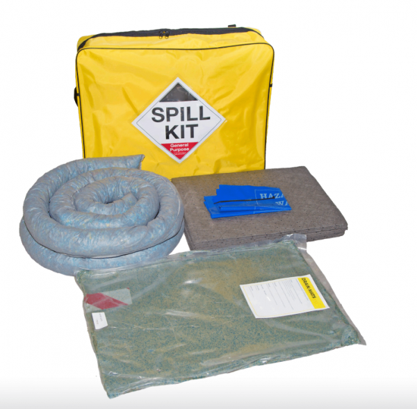 General purpose Spill Kit in Shoulder Bag - with Drain Cover