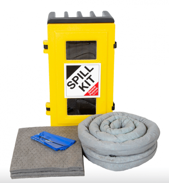 General Purpose Spill Kit in Wall Cabinet 50Litres