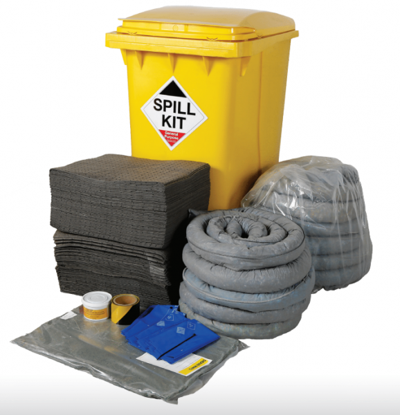 General Purpose Spill Kit in Wheeled Bin 350Litres
