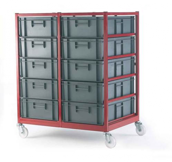 Mobile Container Trolley- Complete with 10 Containers