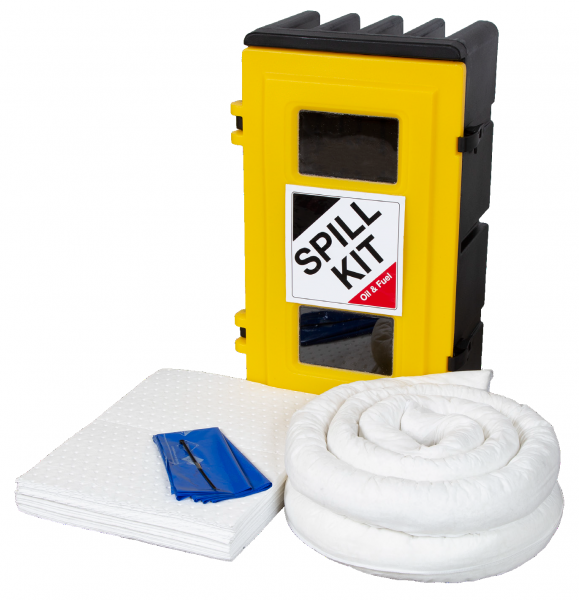 Oil Only Spill Kit in Wall Cabinet