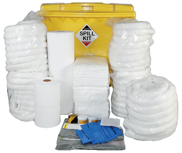 Oil & Fuel Spill Kit in Wheeled IBC