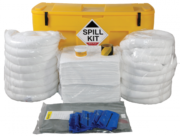 Oil Only Spill Kit in Wheeled Locker 350Litres