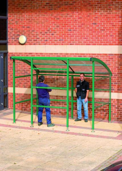Premier Smoking Shelter - Perspex Side