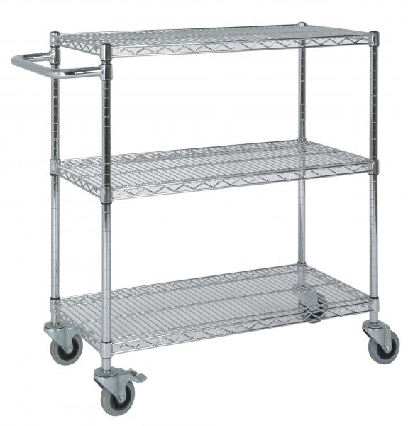 Anco 3 Tier Chrome Wire Catering Trolleys