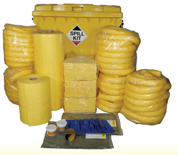 Large 1100 litre Spill Kit in Wheeled IBC - Chemical Only