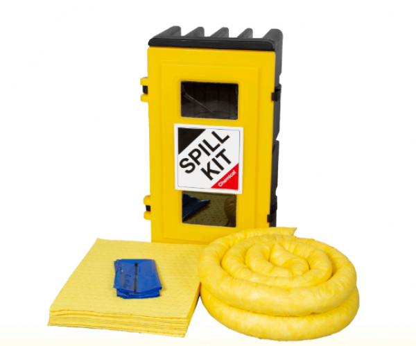 Chemical Spill Kit in Wall Cabinet