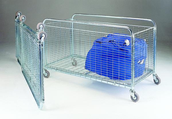 Folding Container Trolleys - 100mm Castors