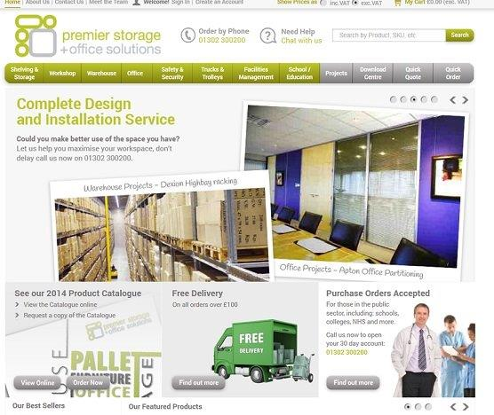 Premier Storage, Premier Storage Web Site Launch