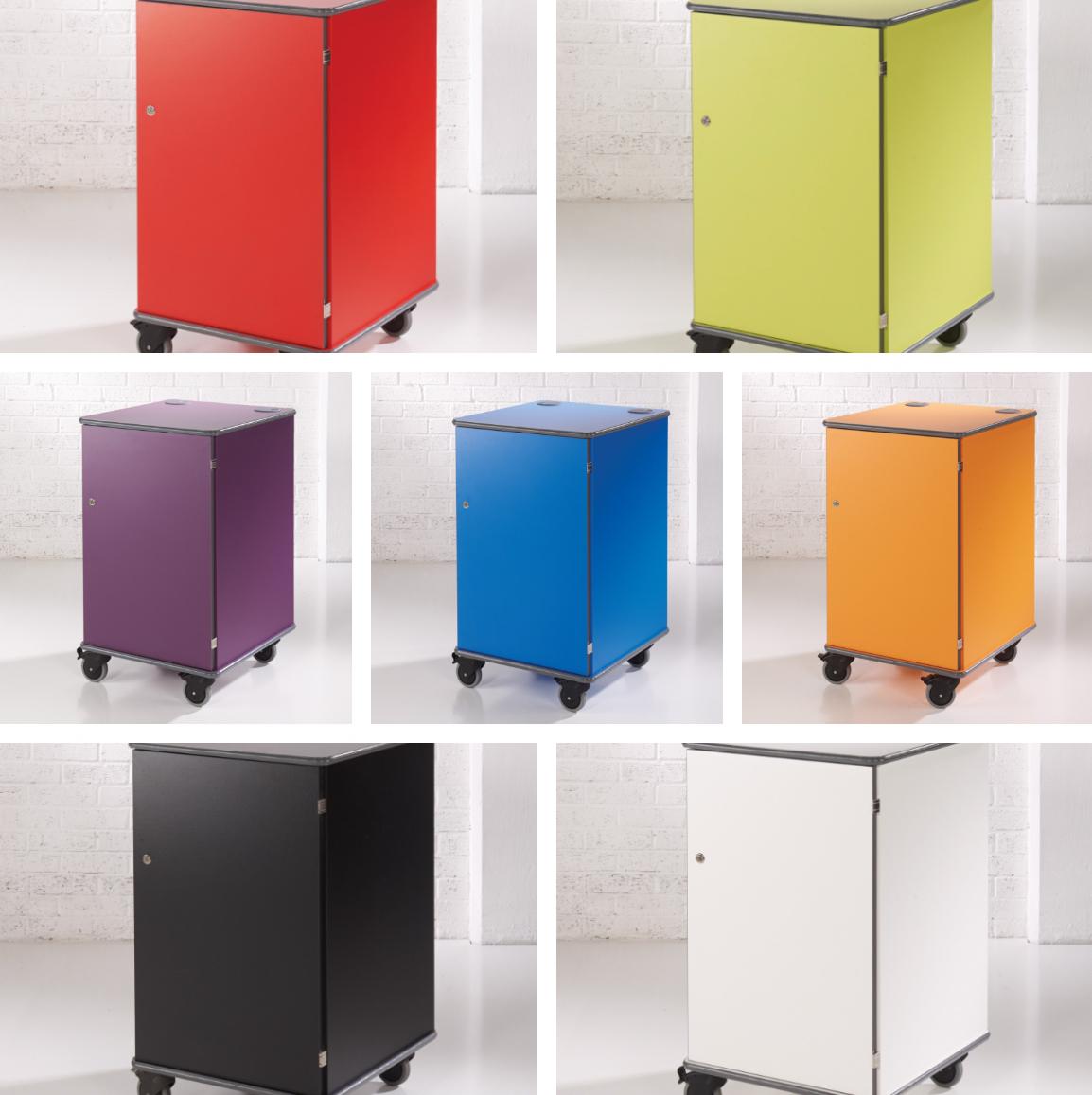 media cabinet coloured
