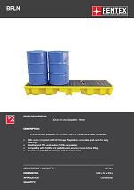 4 Drum In-Line Bunded Spill Pallet