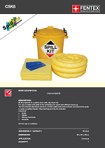 Chemical  Spill Kit in Plastic Drum