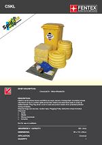 Chemical Spill Kit in Wheeled Bin 360Litres