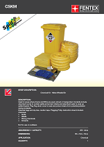 Chemical Spill Kit in Wheeled Bin