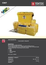 Chemical Spill Kit in Wheeled Trunker