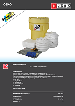 Oil Only Spill Kit in Overpack Drum